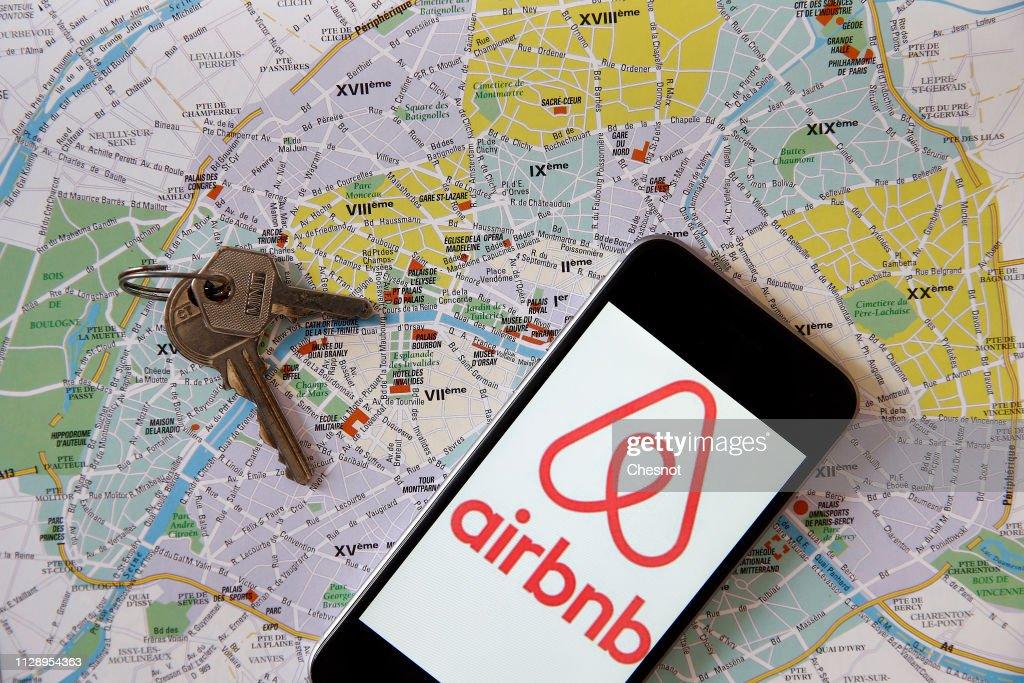 Airbnb : Illustration : Nachrichtenfoto