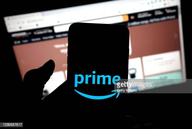 In this photo illustration, the Amazon Prime app is seen on a mobile phone on January 11, 2021 in London, United Kingdom.