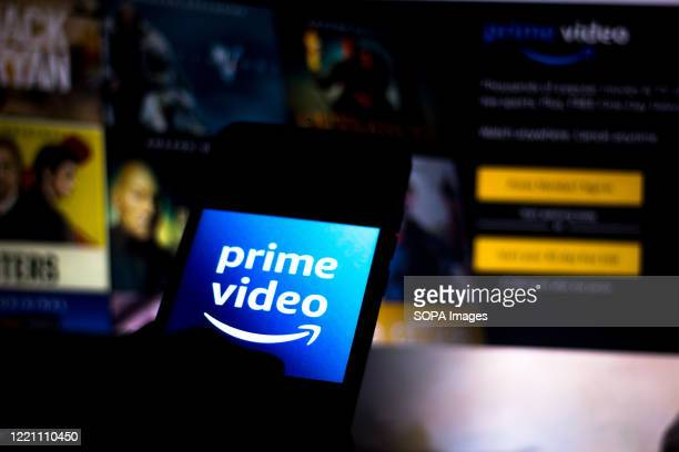 In this photo illustration the Amazon Prime Video logo seen displayed on a smartphone.