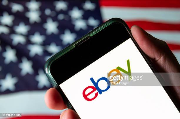 In this photo illustration the American multinational e-commerce online auction and shopping company Ebay logo is seen on an Android mobile device...