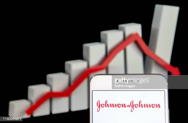 In this photo illustration the American multinational medical devices and pharmaceutical company Johnson & Johnson logo is seen on an Android mobile...