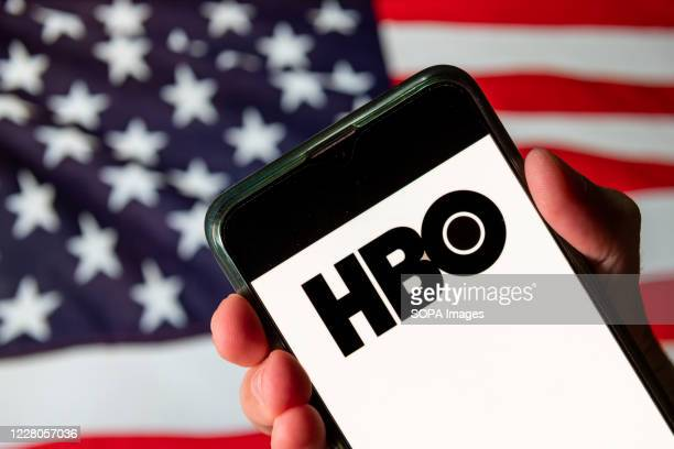 In this photo illustration the American premium cable and satellite television network Home Box Office HBO logo is seen on an Android mobile device...