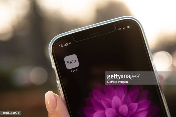 In this photo illustration, the App Luca on the Display of an iPhone on February 25, 2021 in Bargteheide, Germany.