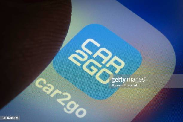 In this photo illustration the app of car sharing company car2go is displayed on a smartphone on March 20 2018 in Berlin Germany