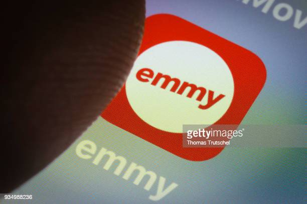 In this photo illustration the app of electric scooter company emmy sharing company car2go is displayed on a smartphone on March 20 2018 in Berlin...