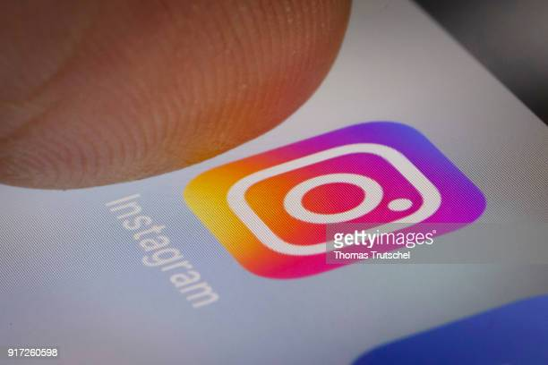 In this photo illustration the app of Instagram is displayed on a smartphone on February 12 2018 in Berlin Germany