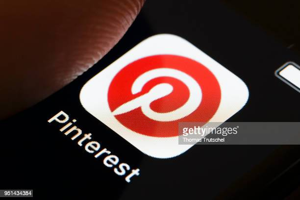 In this photo illustration the app of Pinterest is displayed on a smartphone on April 26 2018 in Berlin Germany