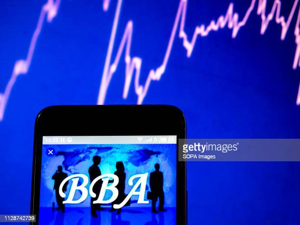 In this photo illustration the BBA in Education logo seen displayed on a smartphone