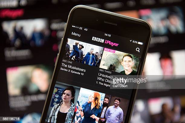 In this photo illustration, the BBC iPlayer app is displayed on an iPhone on August 2, 2016 in London, England. The BBC has announced that iPlayer...