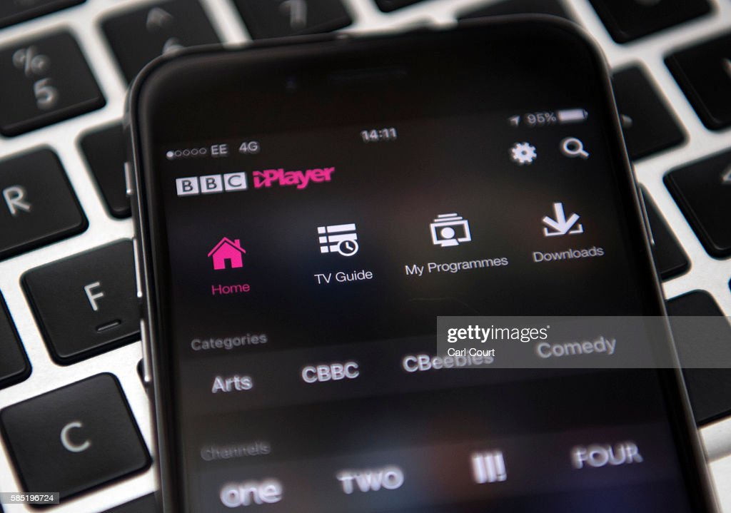 In this photo illustration, the BBC iPlayer app is displayed