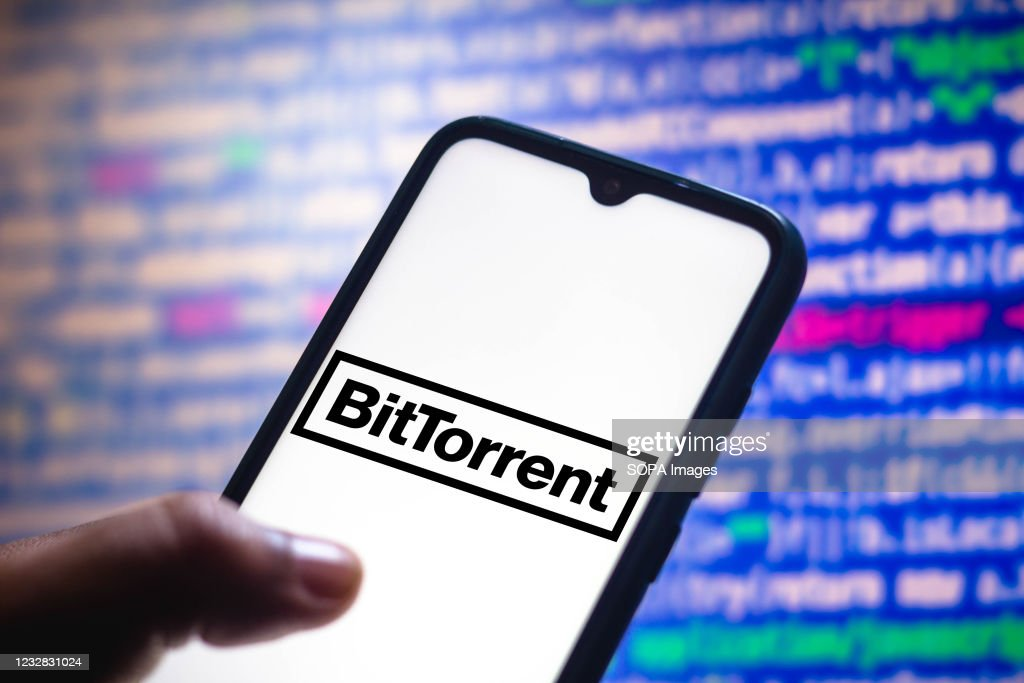 In this photo illustration the BitTorrent logo seen... : News Photo