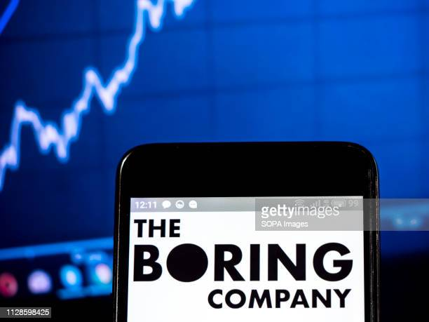 In this photo illustration, the Boring Company logo seen displayed on a smartphone.