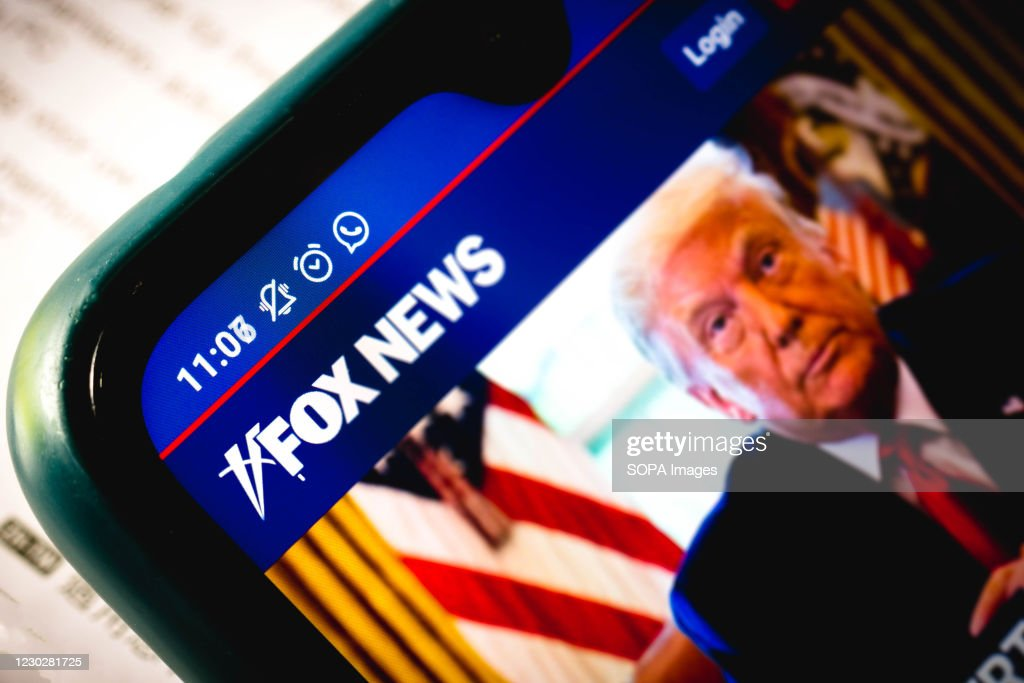 In this photo illustration the close-up of the Fox News... : News Photo