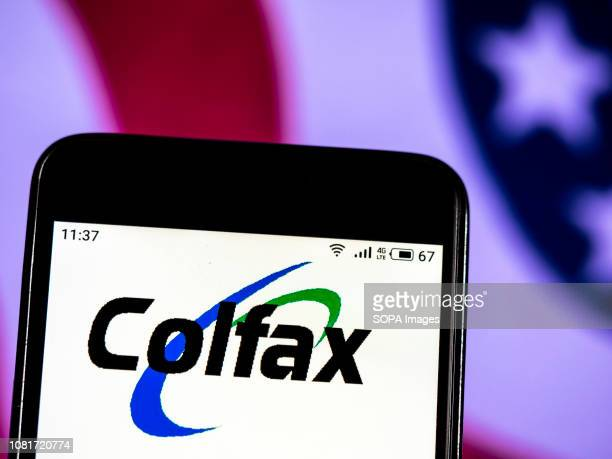 In this photo illustration the Colfax Corporation logo seen displayed on a smartphone