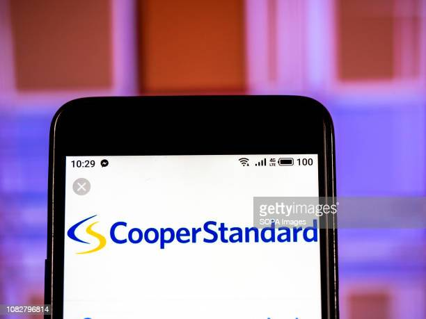In this photo illustration the Cooper Standard Automotive Inc logo seen displayed on a smartphone