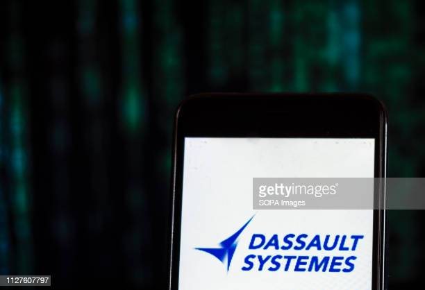 In this photo illustration the Dassault Systèmes Software company logo seen displayed on a smartphone