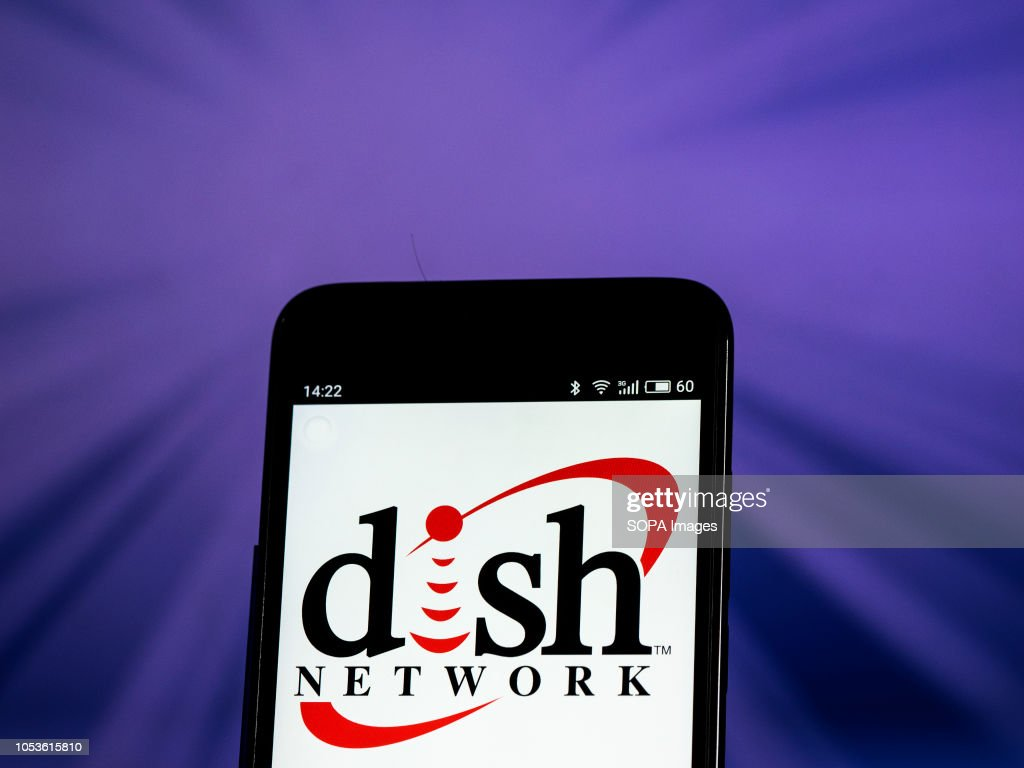Dish Network Satellite Television Company Logo Seen Displayed On
