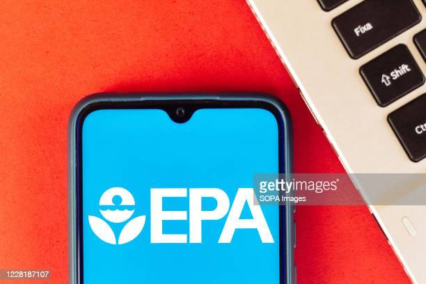In this photo illustration the Environmental Protection Agency logo seen displayed on a smartphone.