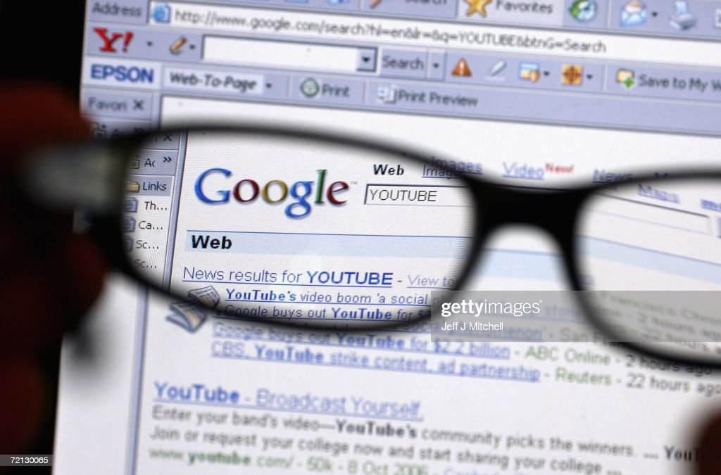 Google Buys YouTube For $1.65bn : News Photo