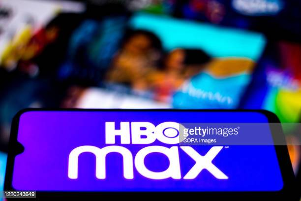 In this photo illustration the HBO Max logo seen displayed on a smartphone