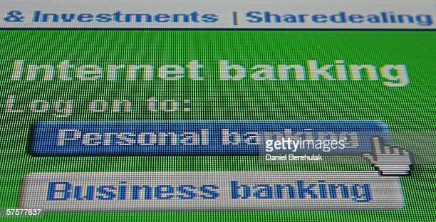 In this photo illustration the home page of the Lloyds Bank homepage is displayed on a computer screen on May 10 2006 in London England