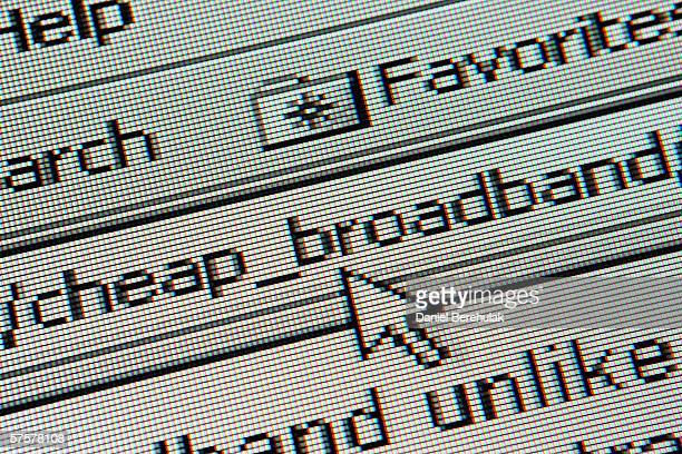 In this photo illustration the homepage of a cheap broadband search is displayed on a computer screen on May 10 2006 in London England