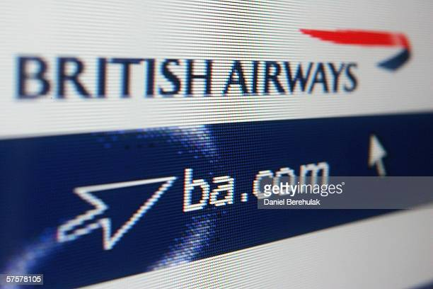 In this photo illustration the homepage of British Airways is displayed on a computer screen on May 10 2006 in London England