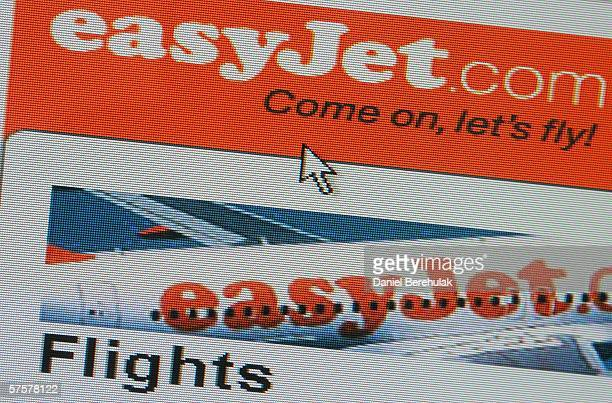 In this photo illustration the homepage of Easy Jet is displayed on a computer screen on May 10 2006 in London England