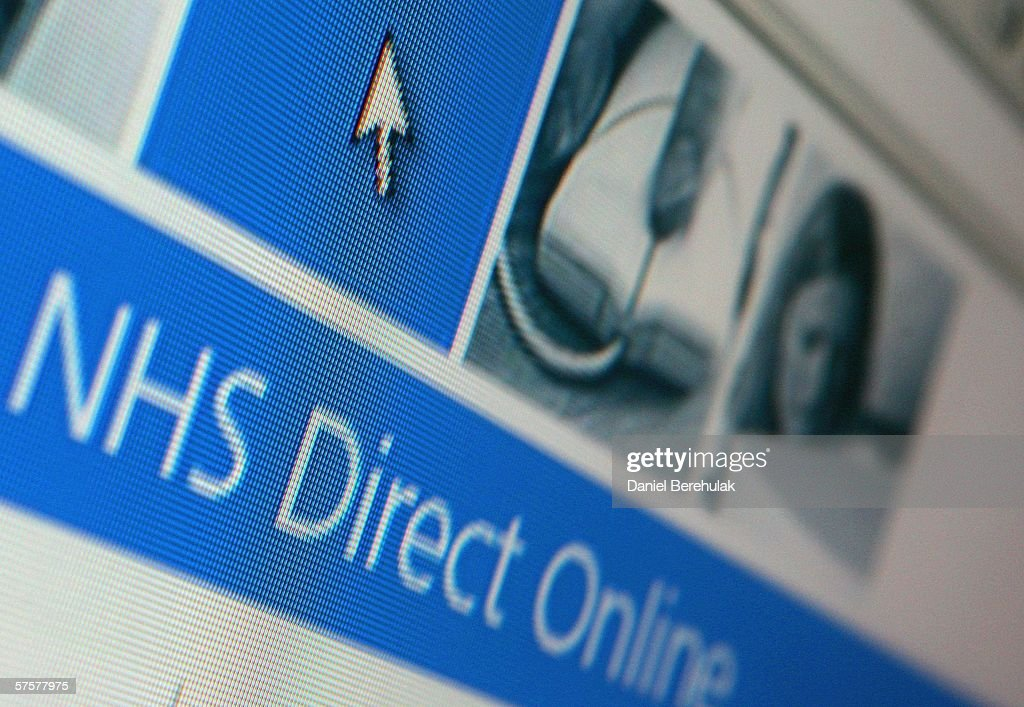 In this photo illustration the homepage of NHS Direct is displayed on a computer screen on May 10, 2006 in London, England.