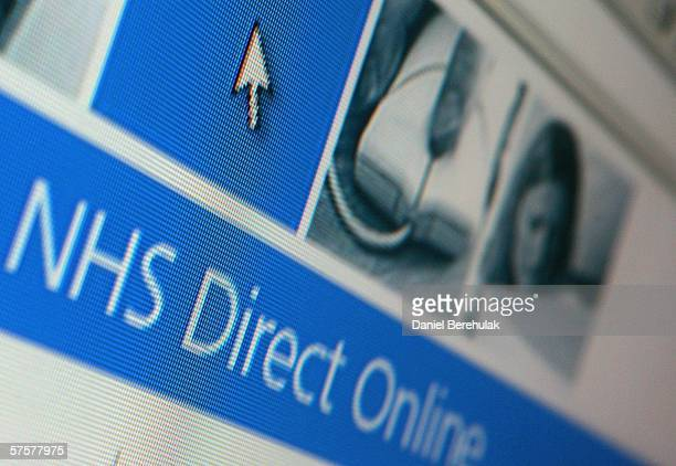 In this photo illustration the homepage of NHS Direct is displayed on a computer screen on May 10 2006 in London England