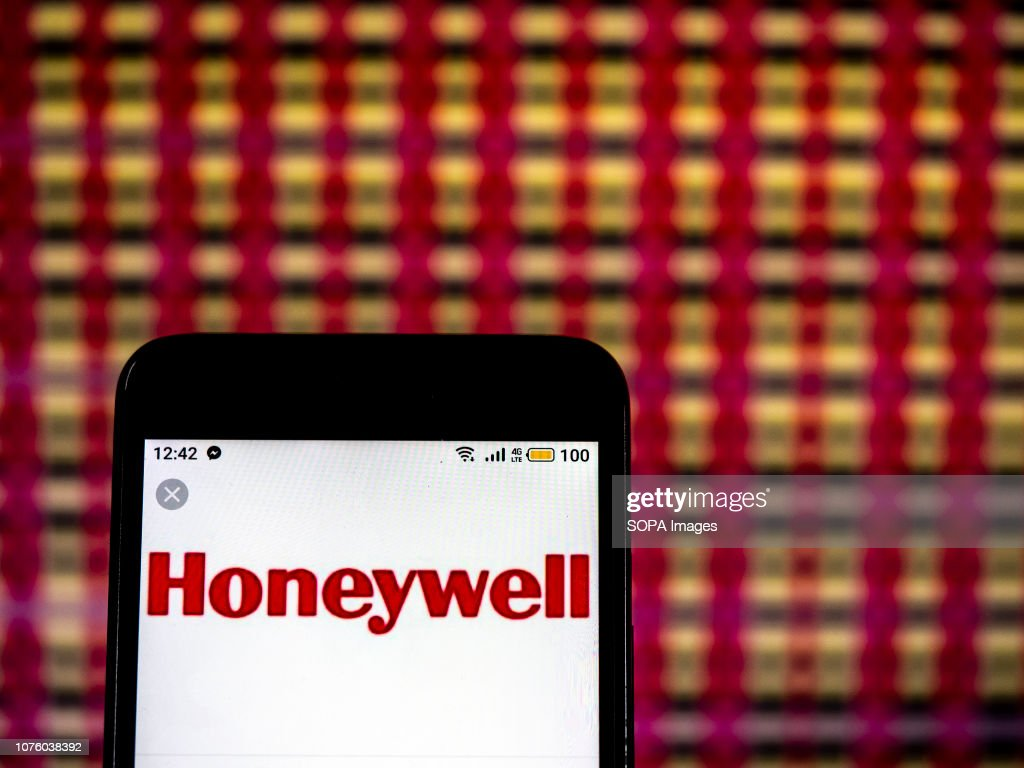 In this photo illustration, the Honeywell Multinational conglomerate