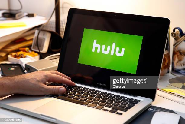 In this photo illustration the Hulu media service provider's logo is displayed on the screen of an Apple laptop on January 10 2019 in Paris France...