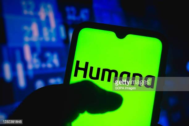 In this photo illustration the Humana Inc. Logo seen displayed on a smartphone screen.