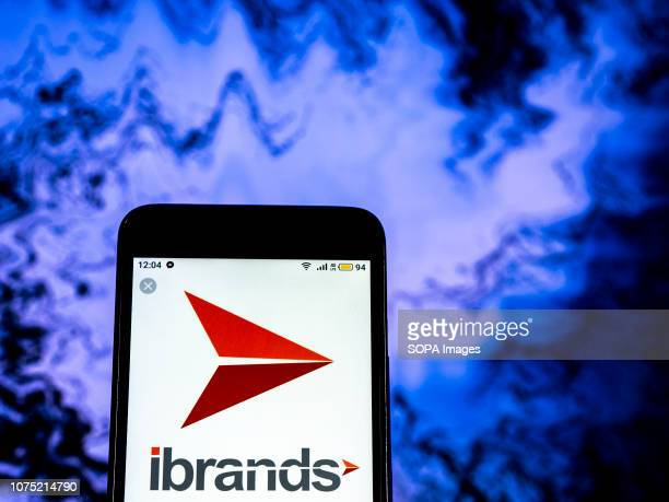 In this photo illustration the IBrands Company logo seen displayed on a smartphone
