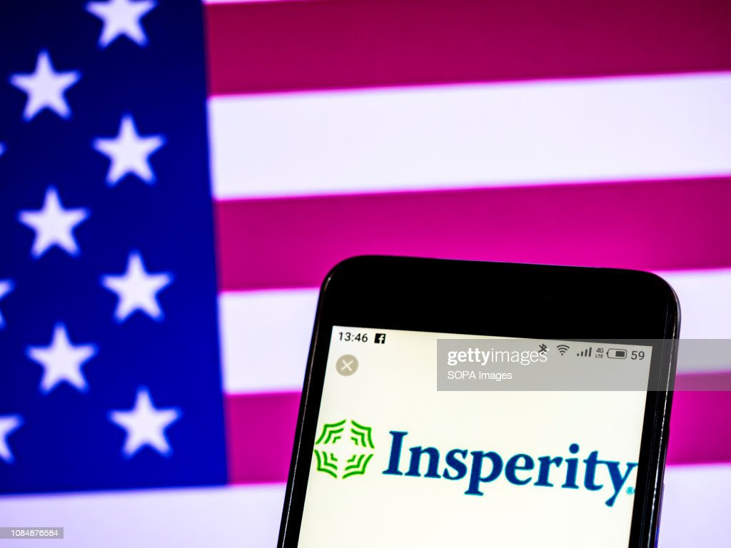 In this photo illustration, the Insperity Company logo seen