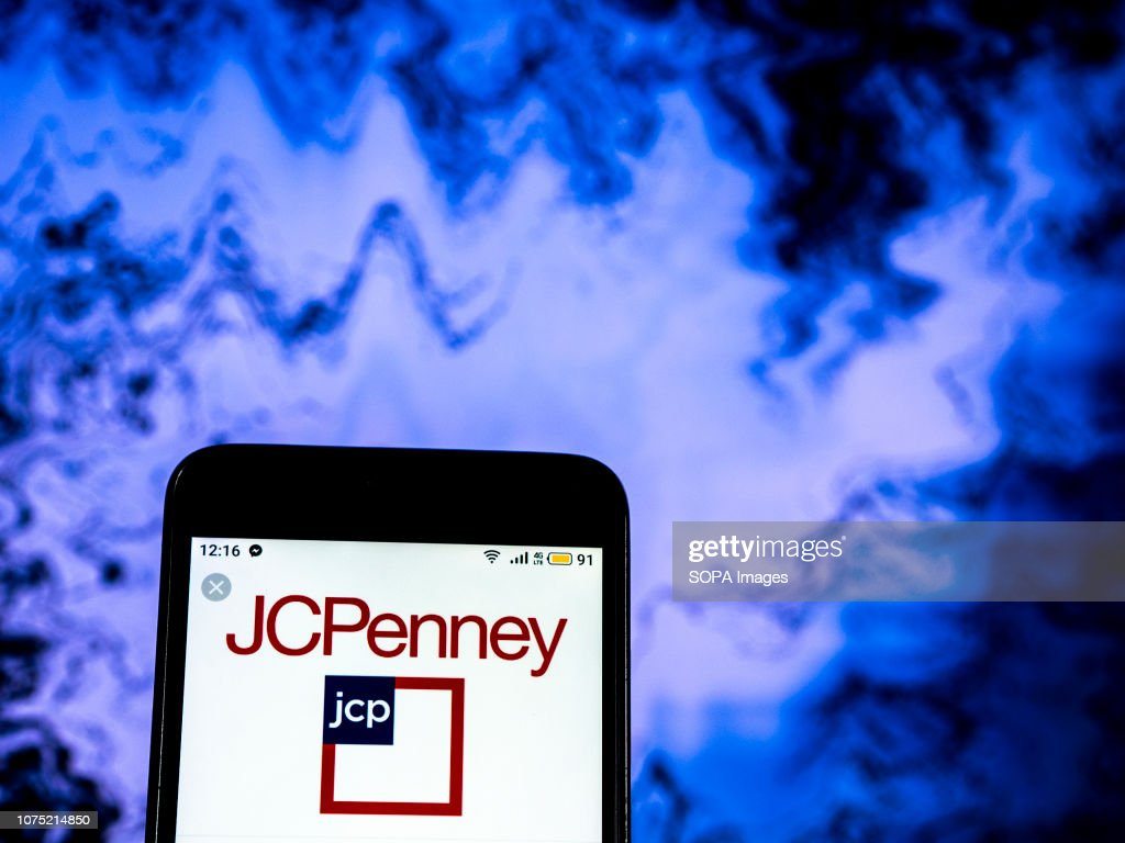 J. C. Penney Department store company logo seen displayed on : News Photo