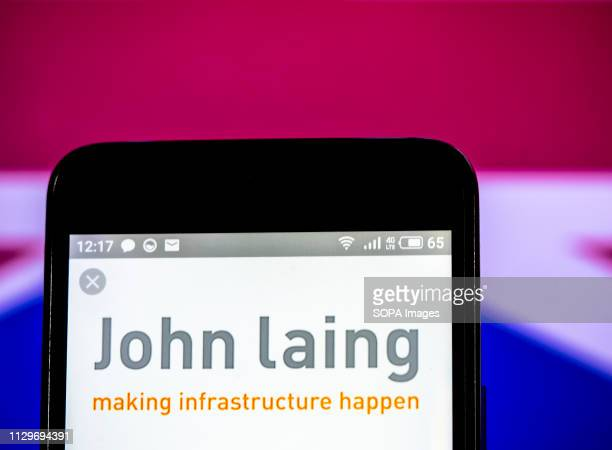 In this photo illustration the John Laing Infrastructure Fund logo seen displayed on a smartphone