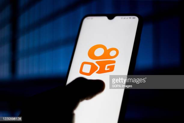 In this photo illustration the KWAI logo seen displayed on a smartphone.