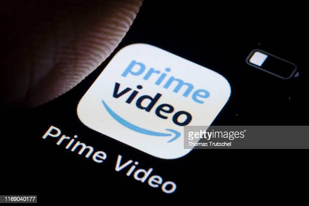 In this photo illustration the logo of American Internet video on demand service Amazon Prime Video is displayed on a smartphone on September 18 2019...