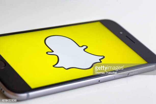 In this photo illustration the logo of Snapchat is displayed on a smartphone on May 04 2017 in Berlin Germany