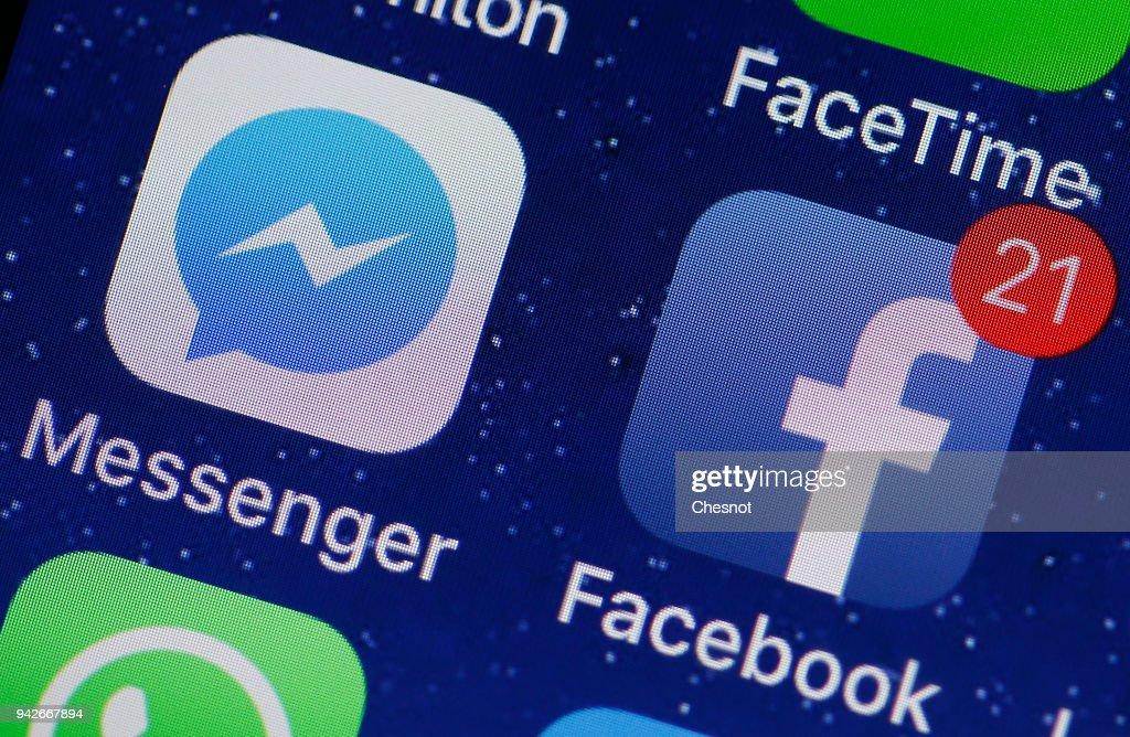 Messenger And Facebook : Illustration : News Photo