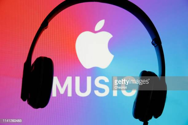 In this photo illustration the logo of the music streaming platform Apple Music is displayed on the screen of a computer on April 08 2019 in Paris...