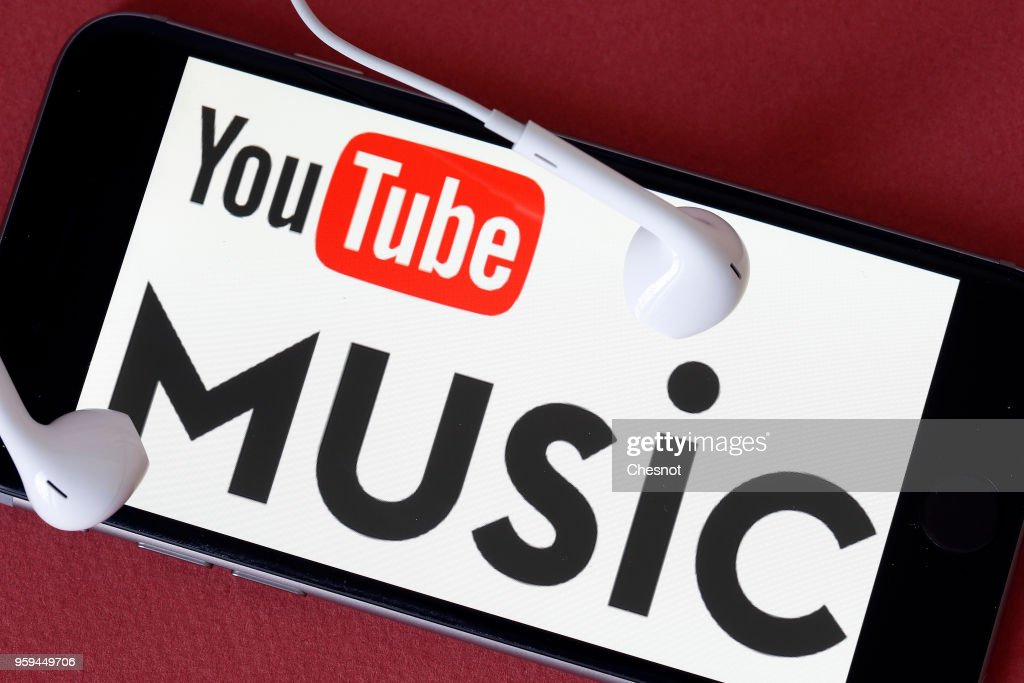 In this photo illustration, the logo of the music streaming service YouTube Music is displayed on the screen of an iPhone on May 17, 2018 in Paris, France. Google has announced the imminent release of YouTube Music, a paid music streaming service that competes with Spotify, Deezer and Apple Music, the service will be launched May 22 in the United States, Australia, New Zealand, Mexico and in South Korea.