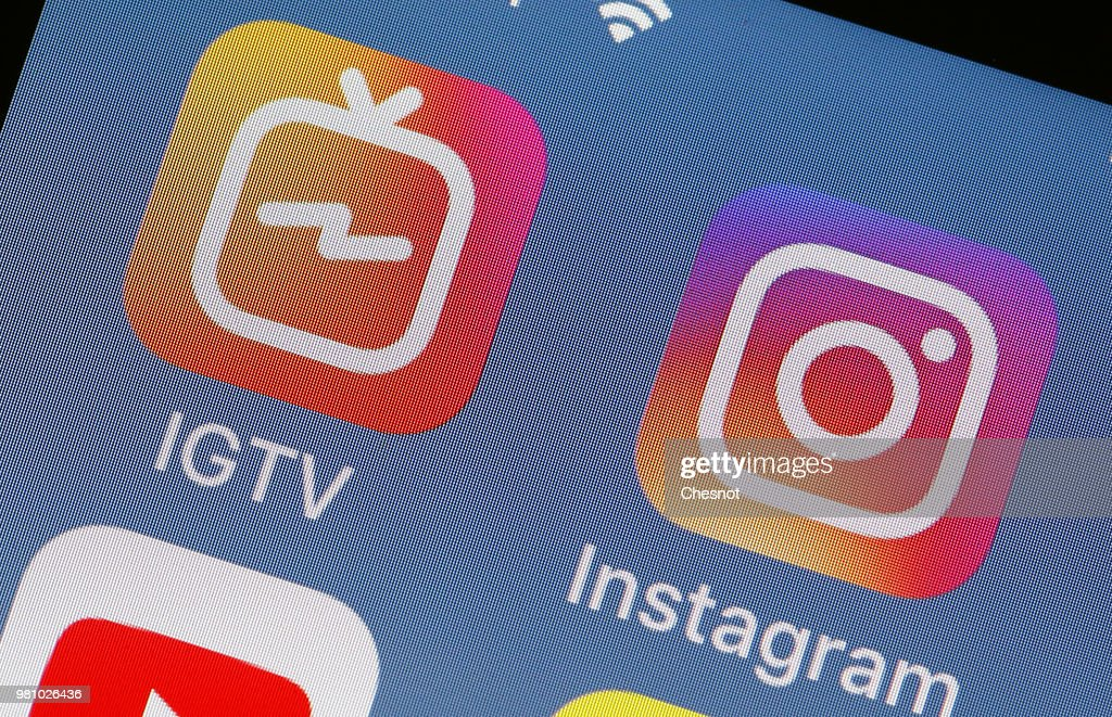 Instagram Launches IGTV : Illustration : News Photo