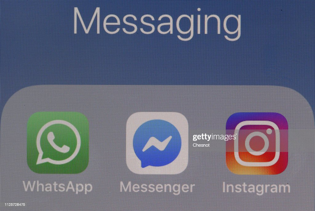 Facebook Announced Plans To Integrate WhatsApp, Instagram And Messenger : Illustration : News Photo