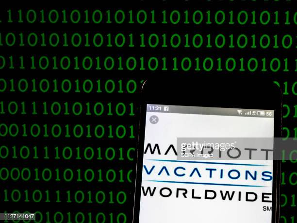 In this photo illustration the Marriott Vacations Worldwide Corporation logo seen displayed on a smartphone