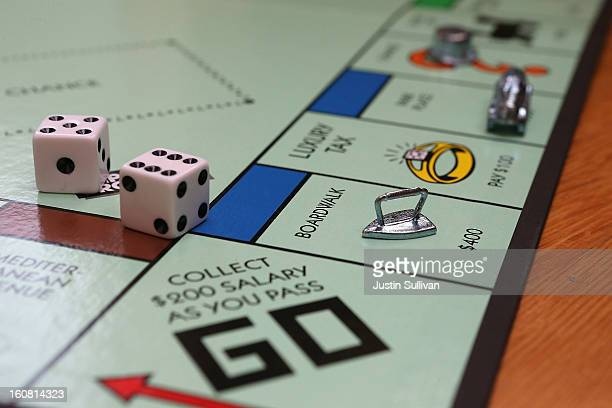 In this photo illustration The Monopoly iron game piece is displayed on February 6 2013 in Fairfax California Toy maker Hasbro Inc announced today...