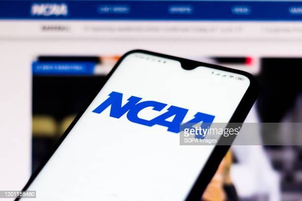 In this photo illustration the National Collegiate Athletic Association website seen displayed on a smartphone.