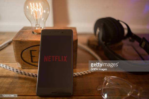 The Netflix application seen displayed on a Sony smartphone