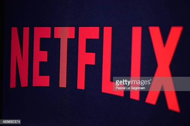 In this photo illustration the Netflix logo is seen on September 19 2014 in Paris France Netflix September 15 launched service in France the first of...